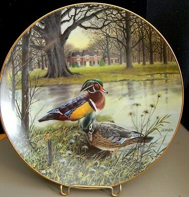 """1987 """"THE WOOD DUCK"""" Collector Plate by Bart Jerner - Near Mint Condition No Box"""