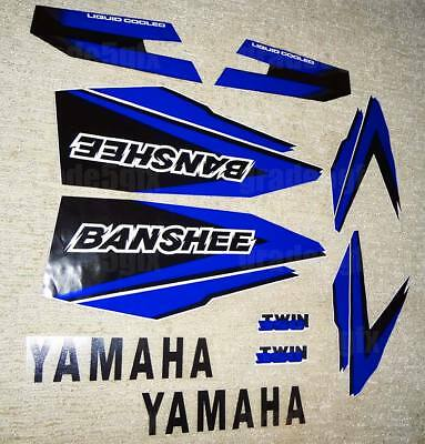 98' 1998 Yamaha Banshee Blue/Black Decals Stickers Quad Graphics 10pc kit