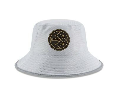 cf2cacf71b059 Pittsburgh Steelers New Era Gray 2018 NFL Training Camp Official Bucket Hat
