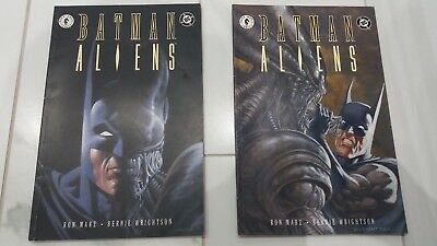 Batman vs Aliens #1-2 TPB Set/Lot (1st Print DC, 1997)Paperback Bernie Wrightson