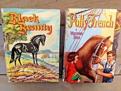Vtg Lot 2 Horse Books - Black Beauty 1955 & Polly French of Whitford High 1954