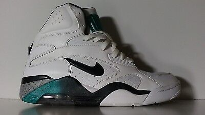3a6e01e456 Nike Air Force 180 Mid WHITE EMERALD 537330-100 Barkley Robinson Aqua Teal  sz 10