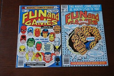 Marvel Fun and Games 1 & 13 lot of 2 Bronze Age comics!