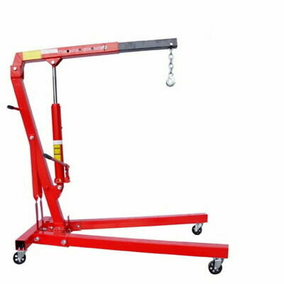 Engine Crane 1000kg Lift Folding Foldable Hydraulic Hoist 1 Ton Long Lifting Arm
