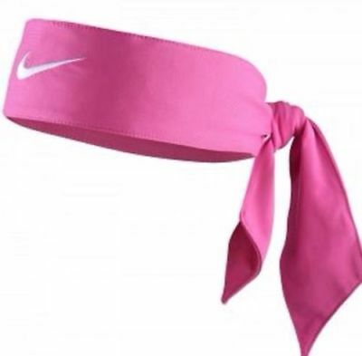 Nike Swoosh Dri Fit Head Tie Headband Pink 2.0 New Ladies Womens New With Tags