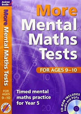 More Mental Maths Tests for Ages 9-10: T... by Andrew Brodie Mixed media product
