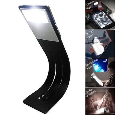 LED Reading Book Light Rechargeable Flexible Clip For Kindle Readers Folding UK