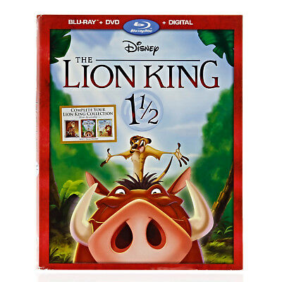 Disney The Lion King 1 1/2 (Blu-ray + DVD + Digital) w/ Slipcover NEW SEALED