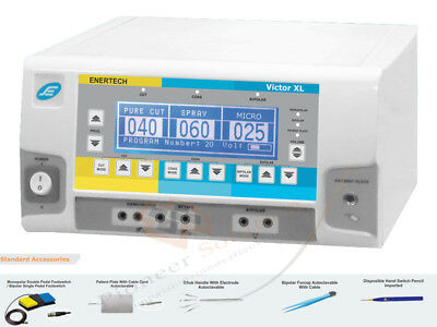 400W Frequency Electrosurgical Unit Cautery Diathermy Machine with Foot Switch