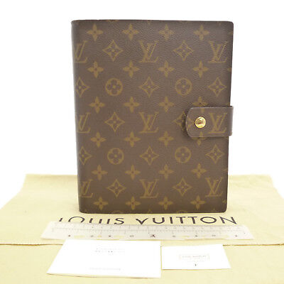 Authentic LOUIS VUITTON Agenda GM Day Planner Cover Damier Ebene R20009 #S205024