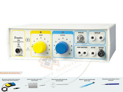300W Frequency Electrosurgical Unit Cautery Diathermy Machine with Foot Switch