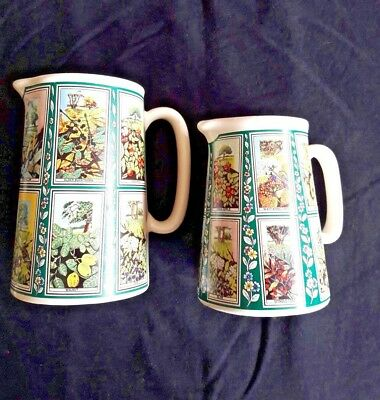 Two Collectable Ringtons Tea by Eastgate Pottery Picture card jugs  - Tree's