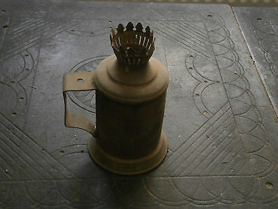 Old Rare Antique Unique French Metal Pigeon Oil Paraffin Petrol Lampe