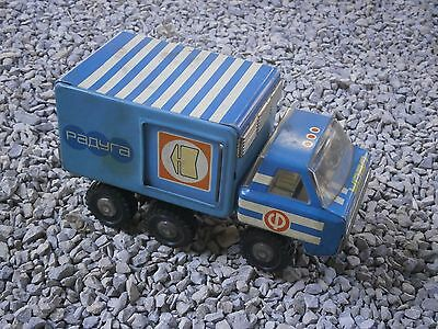Antique Vintage Russian Big Tin Toy Truck Raduga