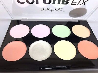 Technic 8 Colour Fix Pressed Powder Blushers Contour Palette Make Up Kit 267041