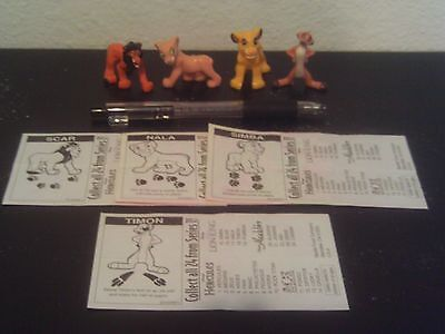 1996 Disney's The Lion King Nestle Magic figures! Simba Scar Nala Timon + papers