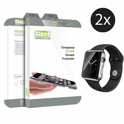 2pk iProTechz Apple iWatch Premium Tempered Glass Screen Protector 38mm Series 1