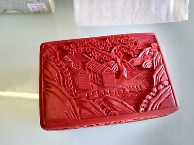Traditional Chinese lacquer box  Gift