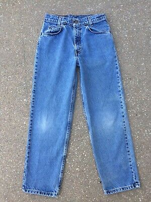Vintage Levi's 550 Student Jeans 28x28 Relaxed Fit Levis Orange Tab