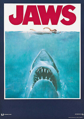 "Reproduction ""Jaws"" Movie Poster, Vintage Print, Classics, Home Wall Art"