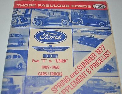 1977 Ford Parts Catalog Those Fabulous Fords