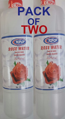 PACK OF  2 x 600ML PURE ROSE WATER - TOP OP or FUDCO -TOP QUALITY