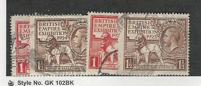 Great Britain, Postage Stamp, #185-186, 203-204 Used, 1924-25