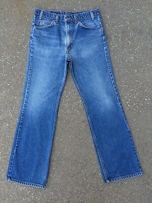 Vintage 517 Levi's Jeans Distressed 33x30 Orange Tab Bootcut Levis USA