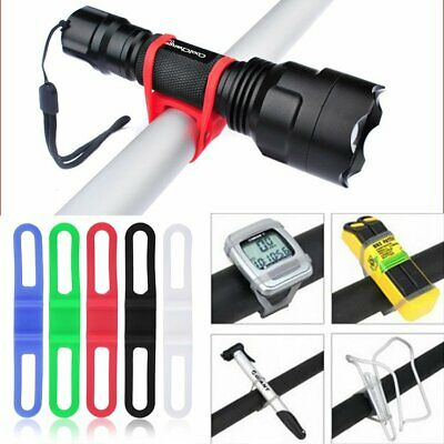 Bike Bicycle Cycling Silicone Elastic Strap Tie Band Phone Flashlight GPS Holder