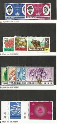 Bahamas, British, Postage Stamp, #228-9 Hinged, 398-00, 402-5, 444-5 Mint NH