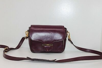 dd7ad093fdc4 Authentic TOD'S Burgundy / White Leather Crossbody Bag