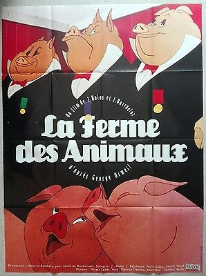 ANIMAL FARM GEORGE Orwell Joy Batchelor French Grande original movie poster