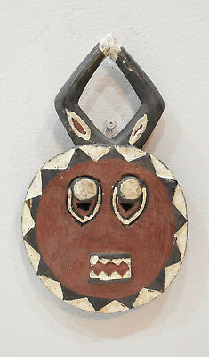 African Mask Baule Goli Brown Wood Dance Mask 11.5""