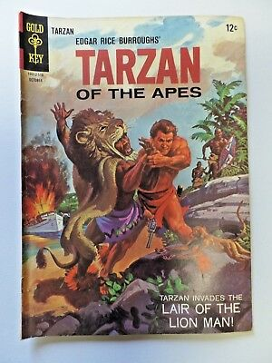 Gold Key Comics Edgar Rice Burroughs' TARZAN OF THE APES No.153 October 1965