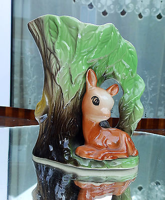 Vintage Pottery  Eastgate Withernsea Jug With Fawn / Deer Mould Number 58.