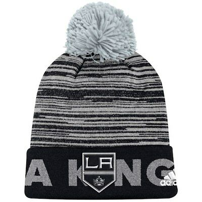 da1b2958089 Los Angeles Kings adidas Youth Team Logo Cuffed Knit Hat with Pom - Black