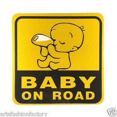 Baby on Road Baby Safety Sign Car Vinyl Sticker Window Decal Decor (Set of 6)