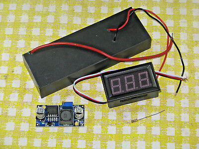 HeNe Laser Power Supply Kit for 0.5-5 mW Tubes w Brick, Stepdown Converter, DPM