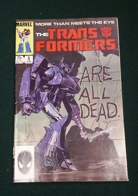 Transformers 5 80s  news stand  marvel comics mid/high grade