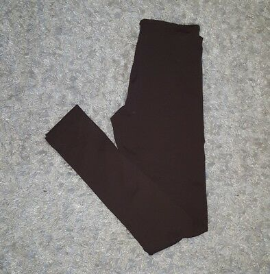 2b623bd7ae47b Brown Winter Casual Stretch Skinny Warm Footless Leggings Pants Womens  Medium