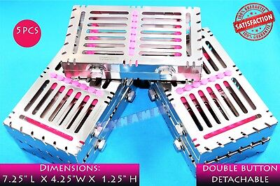 5Pcs Detachable Sterilization Cassette Rack For 7 Instruments With Double Button