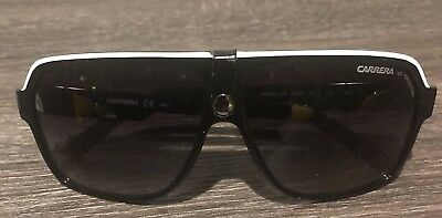7ecb14186026 Carrera 33/S 8V6 9O Black Crystal Grey Aviator Sunglasses Dark Grey Shaded  Lens