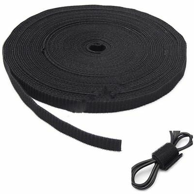 Double Sided Loop Tape Black 20mm Cable Ties Straps H1P5