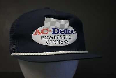0955ac07024 AC Delco Mesh Trucker Hat Cap Blue Snapback Hipster Adjustable Automotive