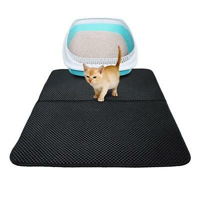 Folding Double Side Waterproof Cat Mat Kitten Litter Pad Trash Trapper Non Slip