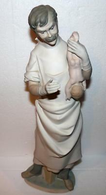 Lladro #4763 Obstetrician Doctor New Born Baby Boy Pastel Matte Finish