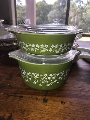 Pyrex Crazy Daisy Spring Blossom Serving Dish USA Bake Casserole 'PRICE REDUCED'