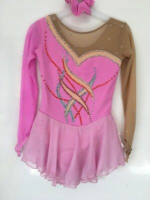 Pink Ice Skating Dress Age 8 (fit 5-7)
