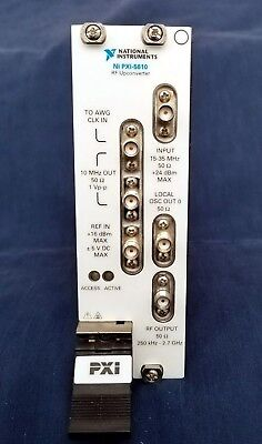 National Instruments NI PXI-5610 2.7 GHz RF Upconverter, 130db Gain