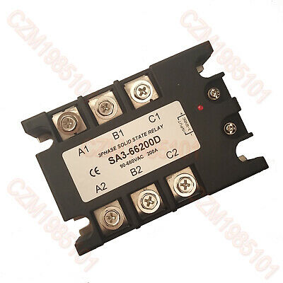 3-Phase Solid State Relay SA3-66200D SSR Input 4-32VDC;Output 90-660VAC;Max 200A